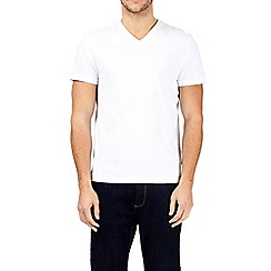 Burton - White v-neck t-shirt