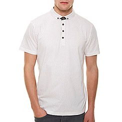 Burton - Ecru polo shirt with print