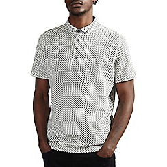 Burton - All over print ecru polo shirt