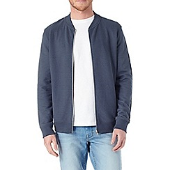 Burton - Blue ribbed bomber jacket