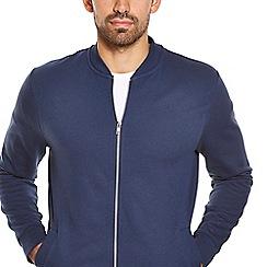 Burton - Navy jersey bomber jacket
