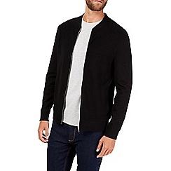 Burton - Black ottoman bomber jacket