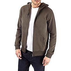 Burton - Khaki military jersey hoodie