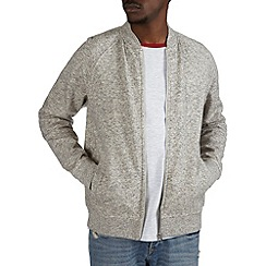 Burton - Grey jersey bomber jacket