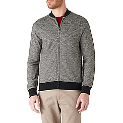 Burton - Grey textured bomber