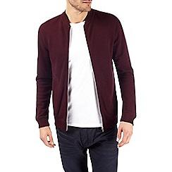 Burton - Burgundy pique bomber jacket