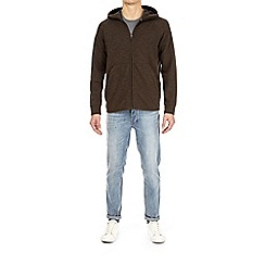 Burton - Khaki athleisure zip-through hoodie