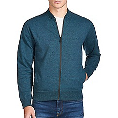 Burton - Teal green textured bomber jacket