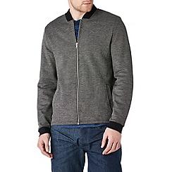 Burton - Black textured contrast bomber jacket
