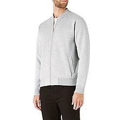 Burton - Grey marl jersey bomber jacket