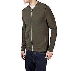Burton - Khaki pique bomber jacket