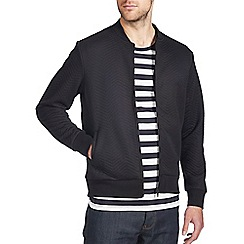Burton - Black quilted bomber jacket