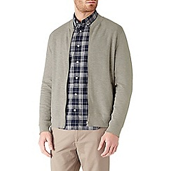 Burton - Grey ottoman bomber jacket