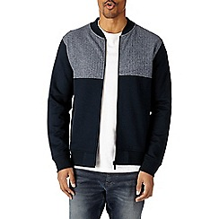 Burton - Navy cut and sew bomber jacket