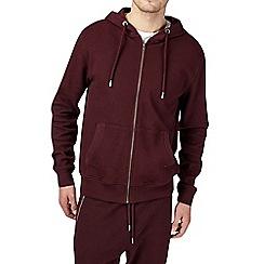 Burton - Burgundy pique hoodie
