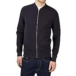 Burton - Navy pique bomber jacket