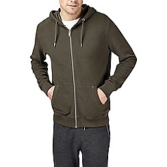 Burton - Khaki pique hoodie