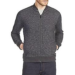 Burton - Charcoal grey textured jersey bomber jacket