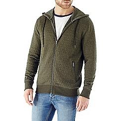 Burton - Khaki quilted hoody