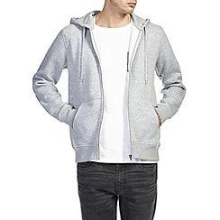 Burton - Grey marl zip up hoodie