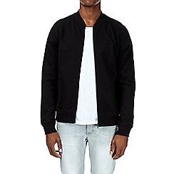 Burton - Black jersey bomber jacket