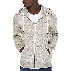 Burton - Grey texture zip up hoodie