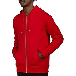 Burton - Red zip up hoodie