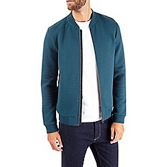 Burton - Teal quilted bomber jacket