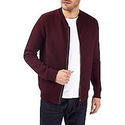 Burton - Burgundy quilted bomber jacket