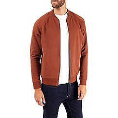 Burton - Ginger peached jersey bomber jacket