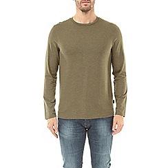 Burton - Light khaki marl long sleeve t-shirt