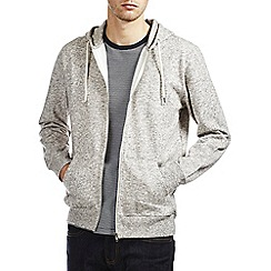 Burton - Grey textured zip up hoodie