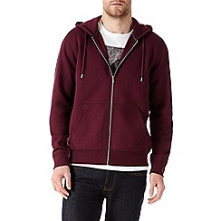 Burton - Burgundy zip up hoody