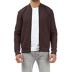 Burton - Purple quilted jersey bomber jacket