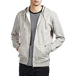 Burton - Grey textured zip up hoodie