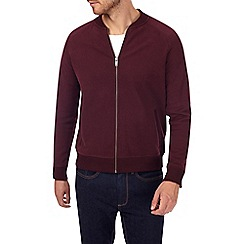 Burton - Burgundy peach bomber jacket