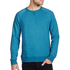 Burton - Teal green textured sweatshirt