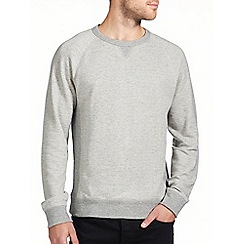 Burton - Light grey textured sweatshirt