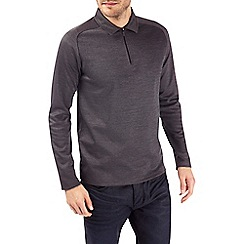 Burton - Charcoal zip polo shirt