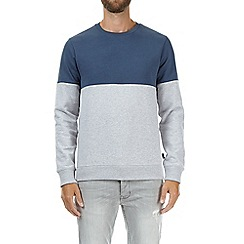 Burton - Navy and grey cut and sew sweatshirt
