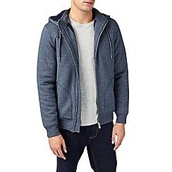 Burton - Blue borg lined hoodie