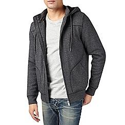 Burton - Charcoal borg lined hoodie
