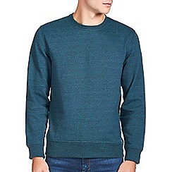 Burton - Teal green crew textured sweathirt