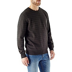 Burton - Charcoal grey dot print sweatshirt