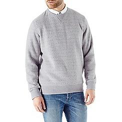 Burton - Grey marl dot print sweatshirt