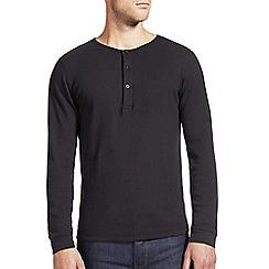 Burton - Black waffle grandad t-shirt