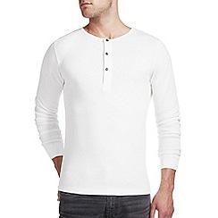 Burton - White waffle grandad t-shirt