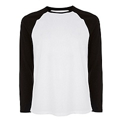 Burton - Black & white raglan t-shirt