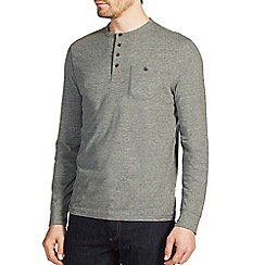 Burton - Khaki green textured long sleeve t-shirt
