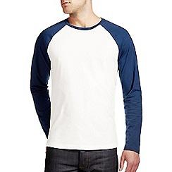 Burton - Navy & white ralgan t-shirt